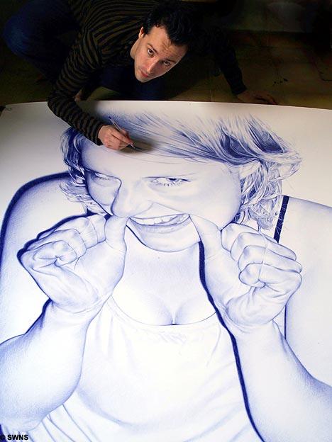 Des dessins au stylo bille for Artiste dessin