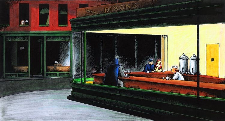 23 parodies de Nighthawks d'Edward Hopper
