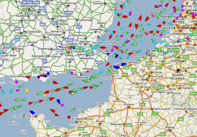 traffic maritime Le traffic maritime mondial en temps réel