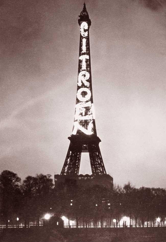 [ACTUALITE] Showroom DS World Paris - Page 7 Citroen-tour-eiffel-1925