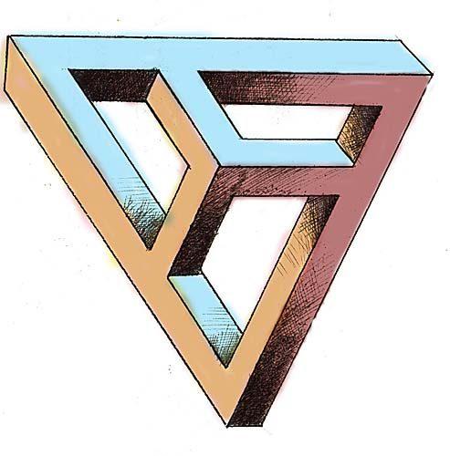 Les dessins aux perspectives impossibles d 39 anatoly konenko for Dessin en forme geometrique
