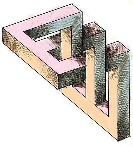 Les dessins aux perspectives impossibles d 39 anatoly konenko - Chambre en perspective facile ...