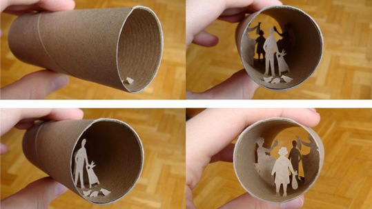 papier toilette WC scene 4 Scènes de vie dans des rouleaux de papier toilette