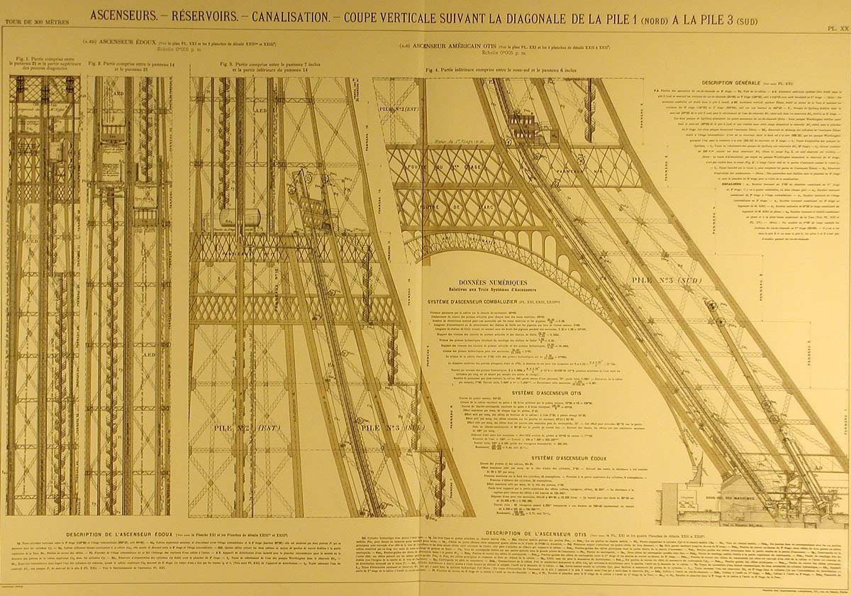 Eiffel Tower Blueprints