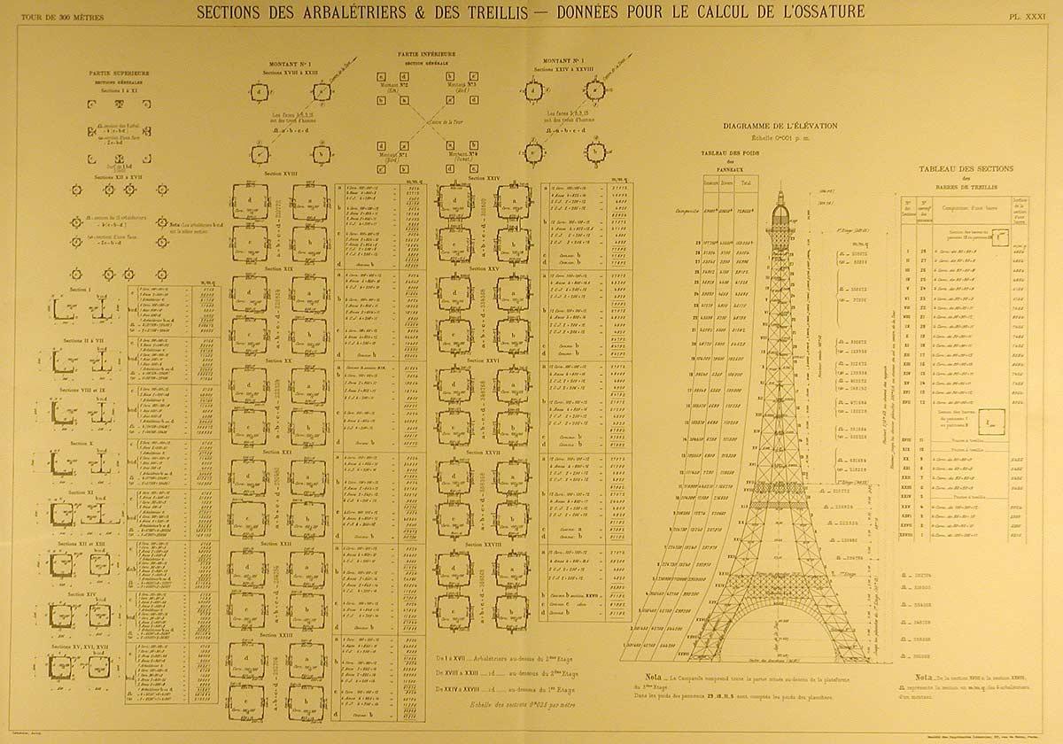 de la Tour Eiffel vient de mettre en ligne des reproductions des plans  ~ Plan Tour A Bois