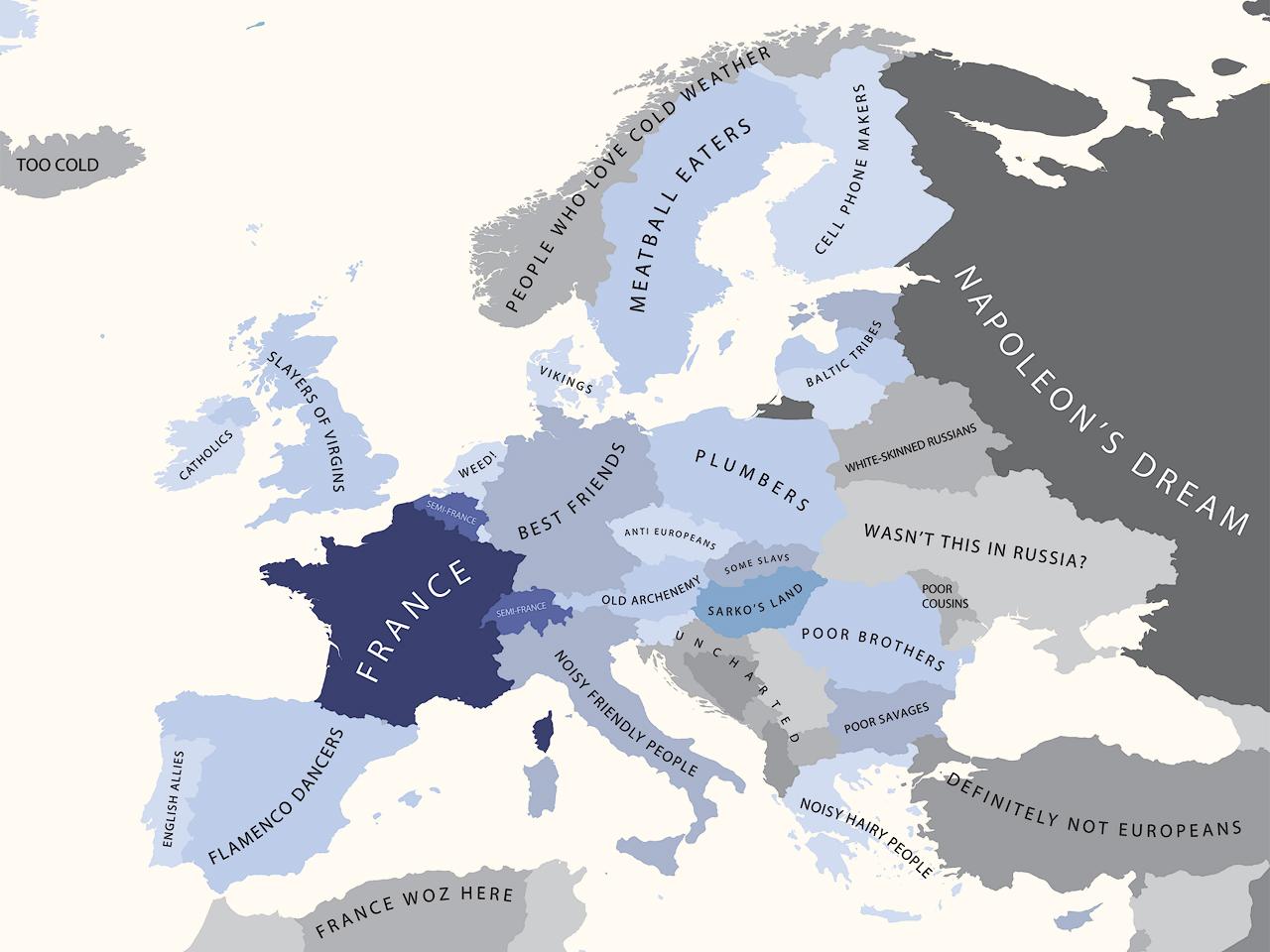 Cartes Des Stéréotypes Européens