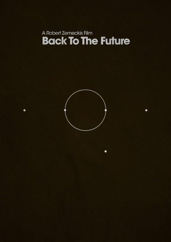 retour futur poster 1 La trilogie Retour vers le Futur en 3 affiches minimalistes