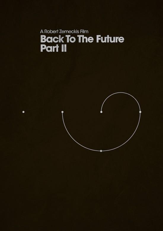 retour futur poster 2 La trilogie Retour vers le Futur en 3 affiches minimalistes