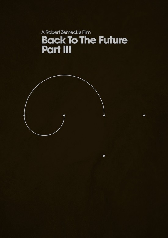 retour futur poster 3 La trilogie Retour vers le Futur en 3 affiches minimalistes