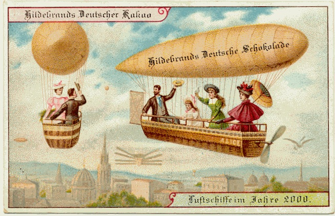 carte postale 2000 futur 10 En 1900, des cartes postales imaginent lan 2000  histoire featured design
