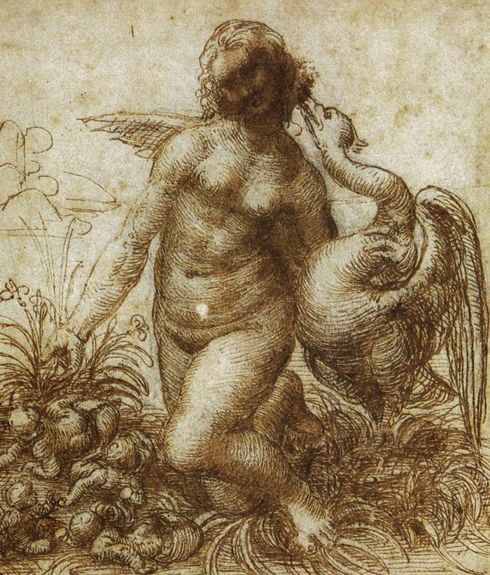 dessin leonard de vinci leda2 27 56 dessins de Leonard De Vinci histoire design art