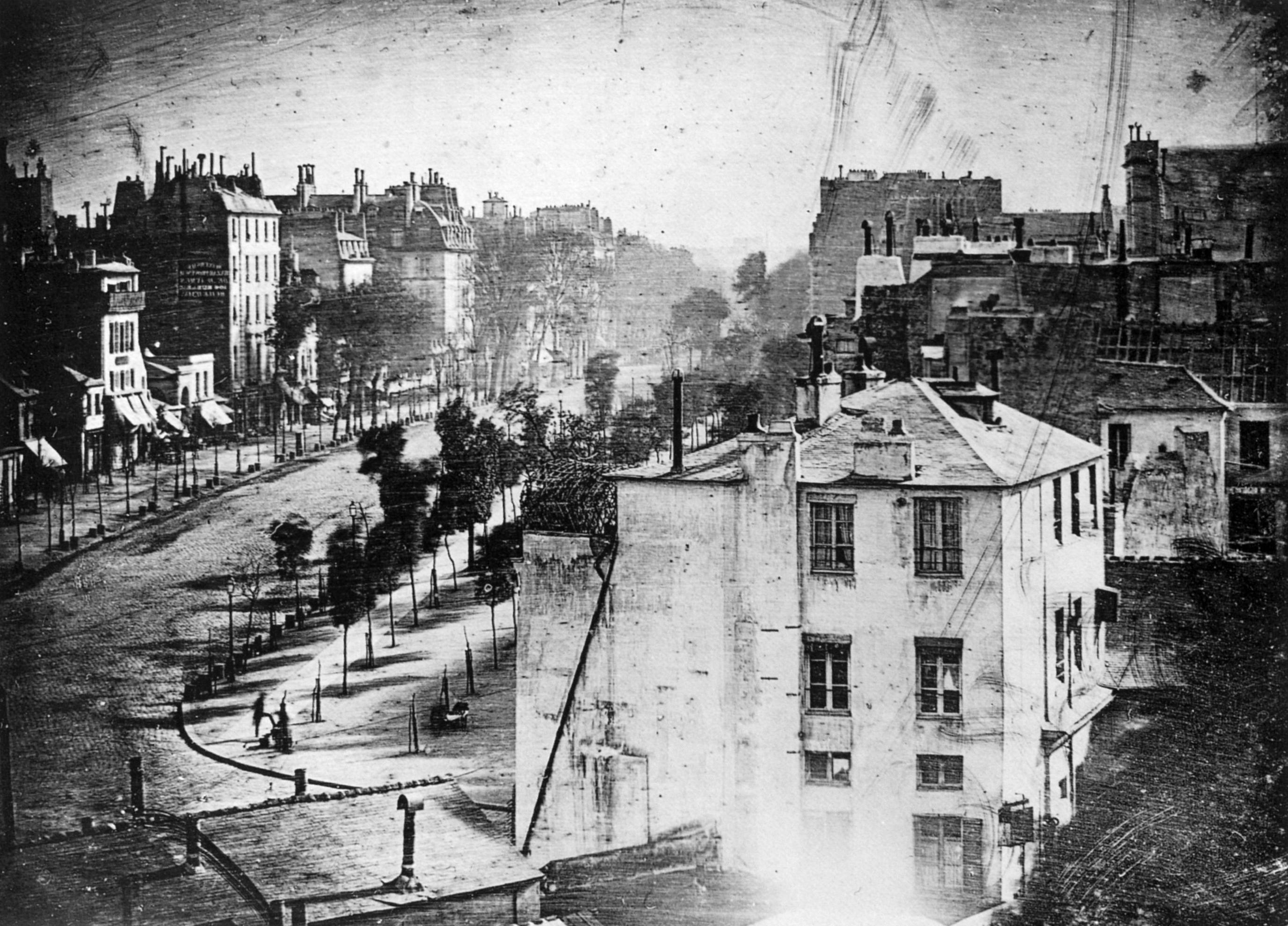 premiere photo homme 1838 Première photographie montrant une personne