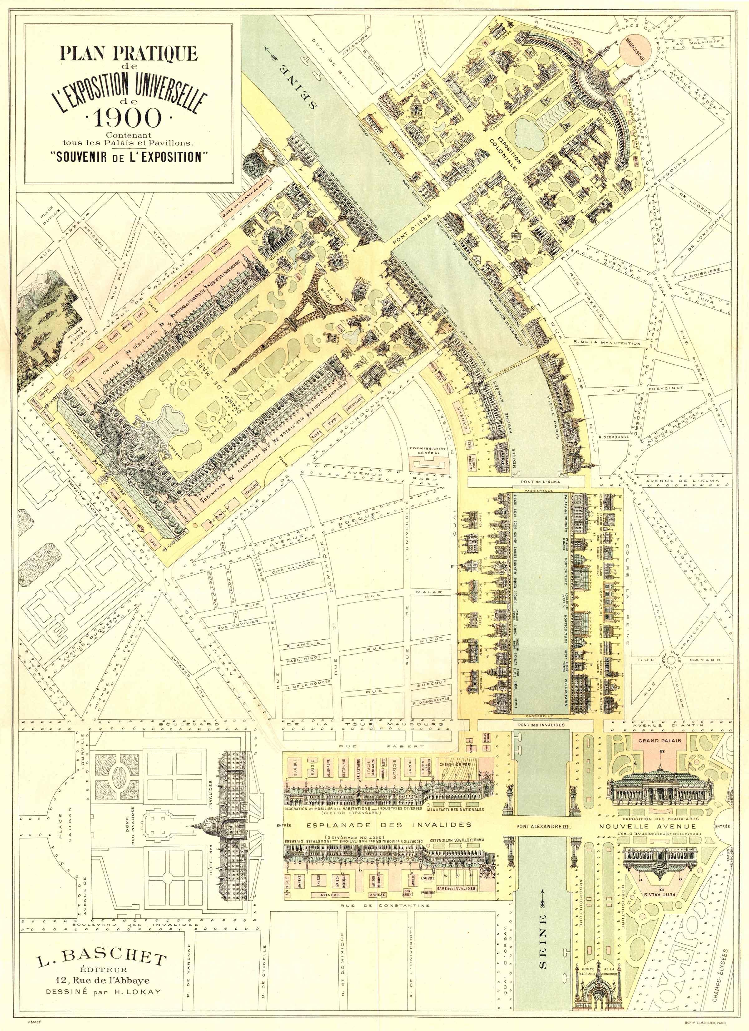 Exposition universelle 1900 Plan Pratique Plan pratique de lexposition universelle de Paris en 1900  information histoire carte information