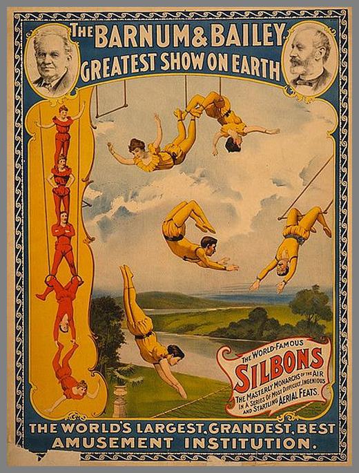 27 vieilles affiches de cirques et cabarets. Black Bedroom Furniture Sets. Home Design Ideas