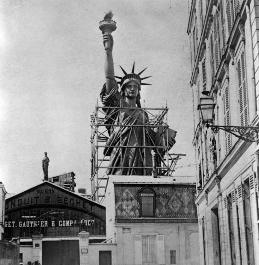 2129 520x531 La construction de la Statue de la Liberté à Paris