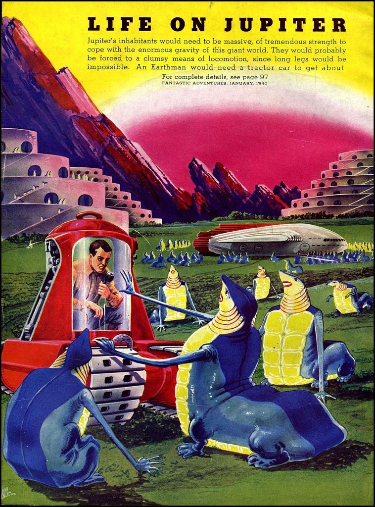 alien systeme solaire 1940 01 La vie dans le système solaire imaginée en 1940