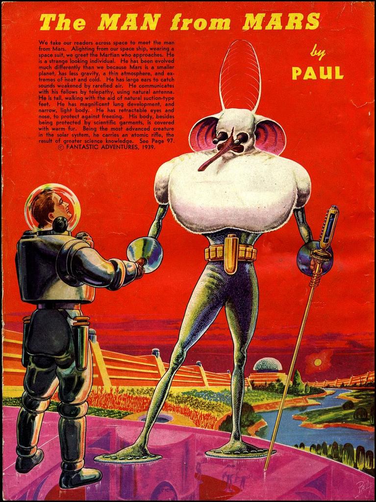 alien systeme solaire 1940 03 La vie dans le système solaire imaginée en 1940