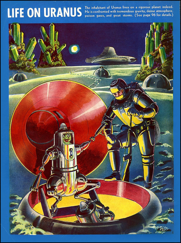 La vie dans le système solaire imaginée en 1940 Alien-systeme-solaire-1940-06