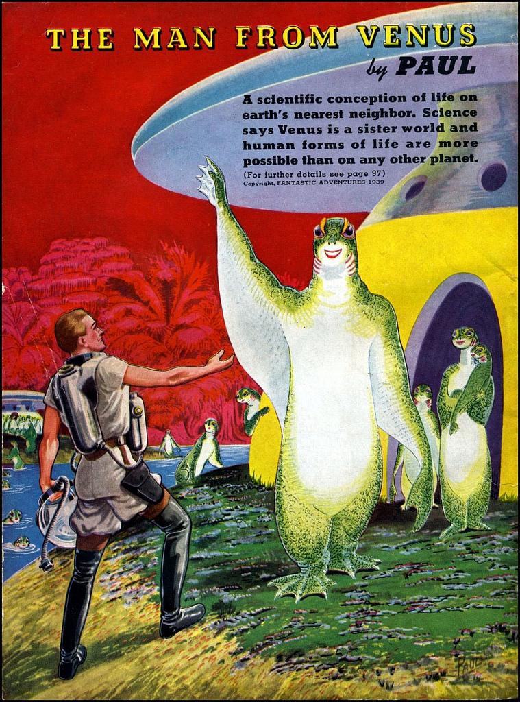 alien systeme solaire 1940 07 La vie dans le système solaire imaginée en 1940