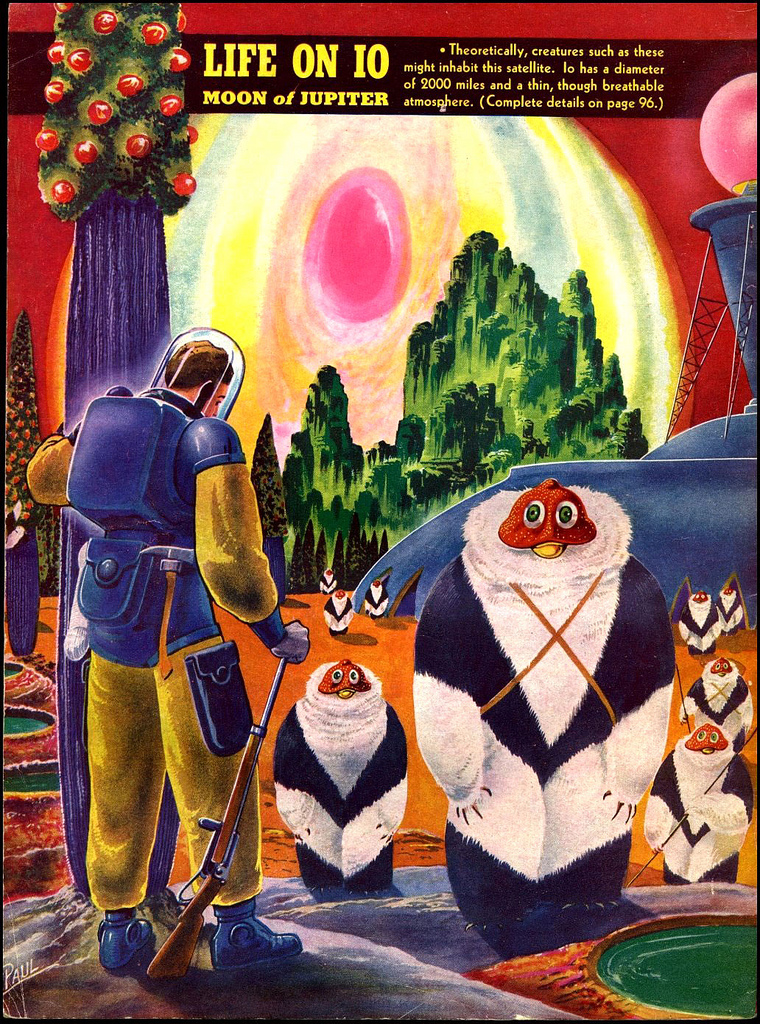 alien systeme solaire 1940 09 La vie dans le système solaire imaginée en 1940