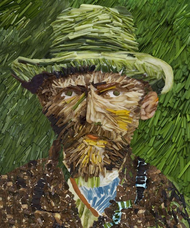 tableau peinture legumes
