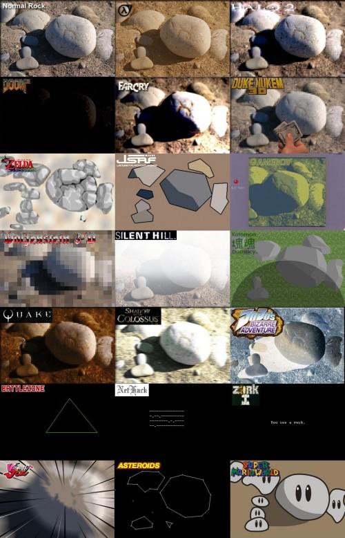 cailloux jeu video Lévolution des jeux vidéos vue par une pierre
