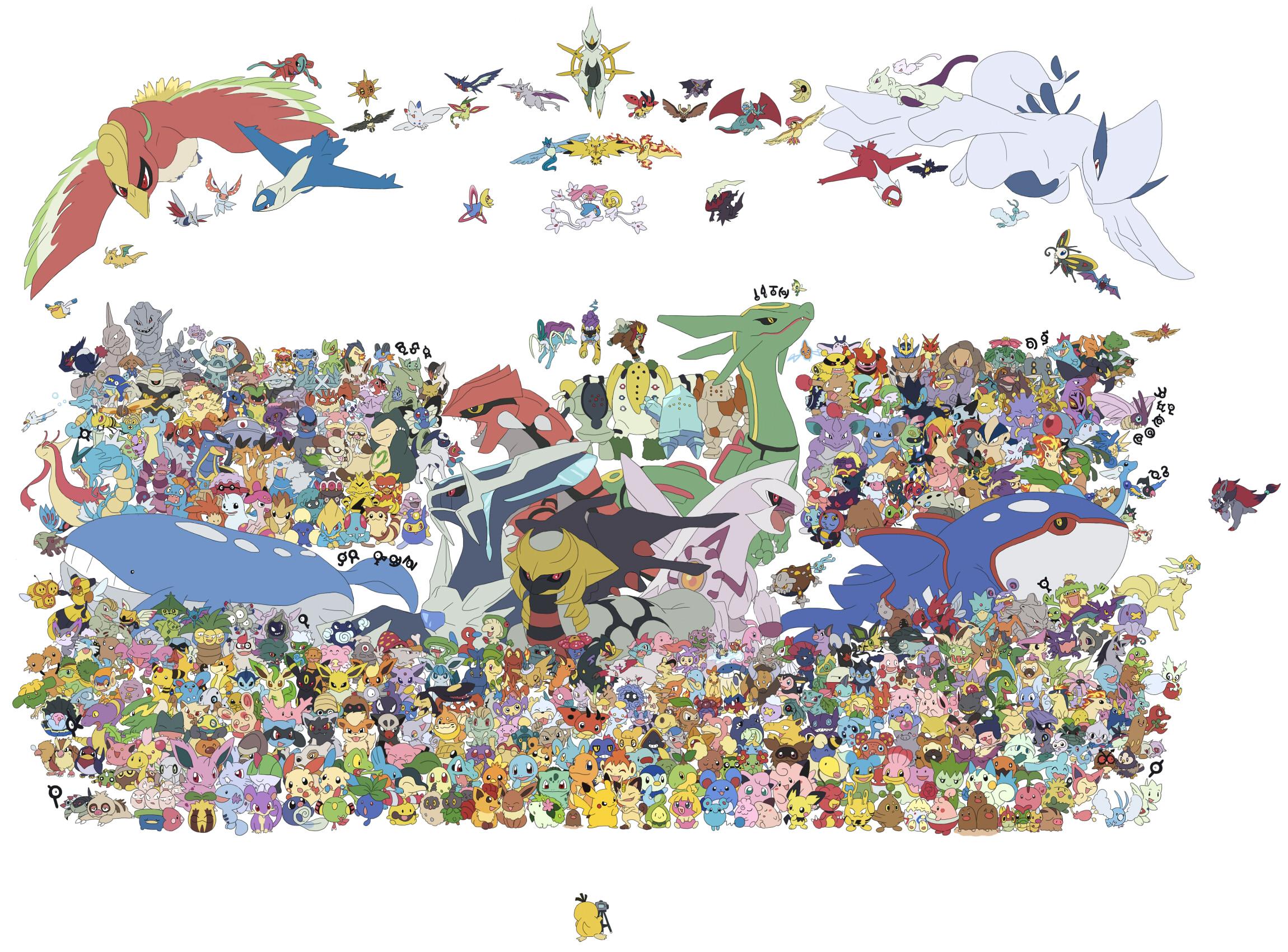 Tous les pokemon sur une seule image - Toute les evolution pokemon ...