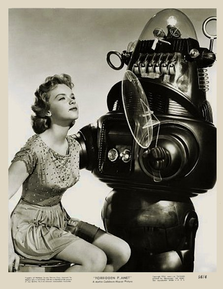 vintage femme pinup robot 01 Des femmes et des robots vintages