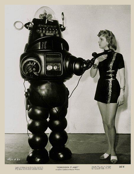 vintage femme pinup robot 08 Des femmes et des robots vintages