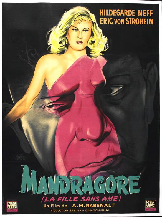 affiche vintage film horreur 1950 04 Affiches de films dhorreur des années 50  design