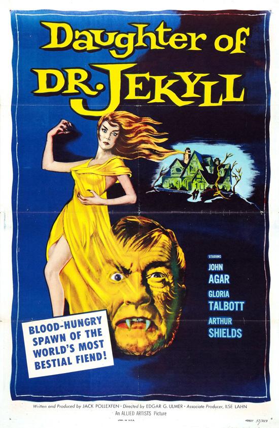 affiche vintage film horreur 1950 08 Affiches de films dhorreur des années 50  design