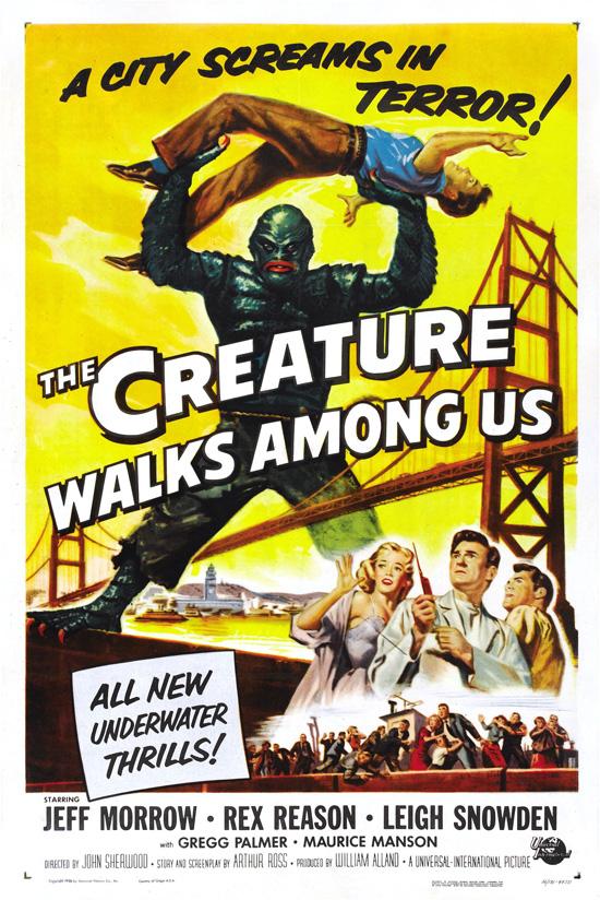 affiche vintage film horreur 1950 09 Affiches de films dhorreur des années 50  design