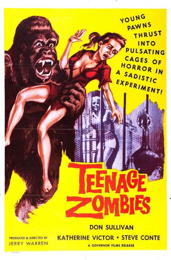affiche vintage film horreur 1950 10 Affiches de films dhorreur des années 50  design