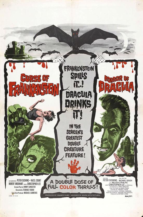 affiche vintage film horreur 1950 14 Affiches de films dhorreur des années 50  design