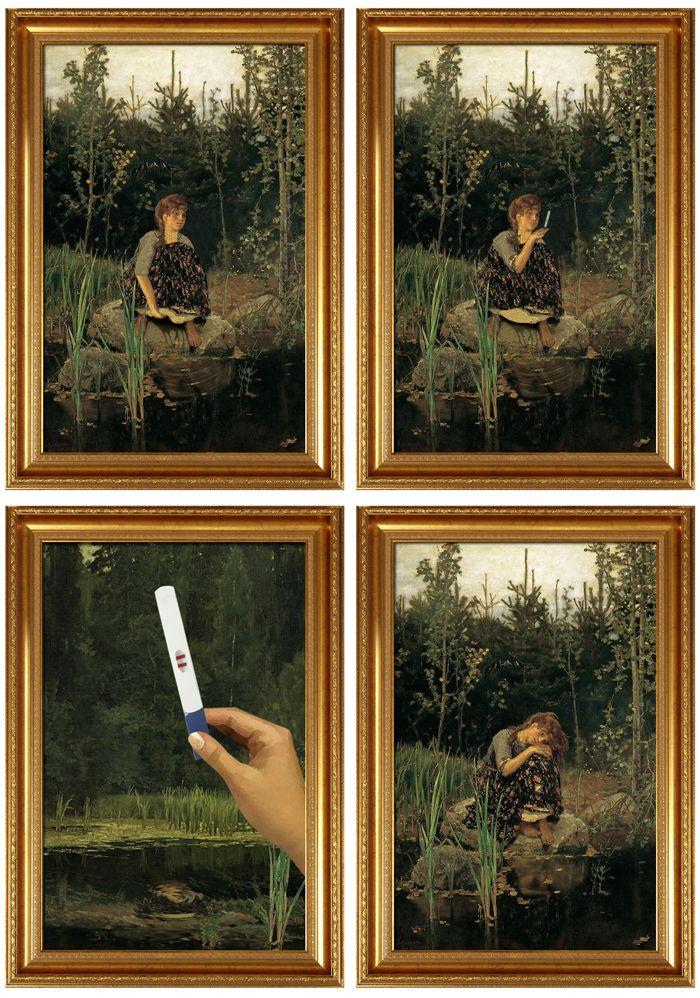 avant apres peinture explique 03 L'avant et l'après de peintures connues