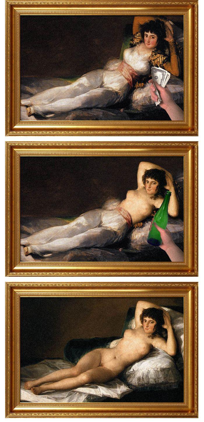 avant apres peinture explique 08 L'avant et l'après de peintures connues  featured divers design art