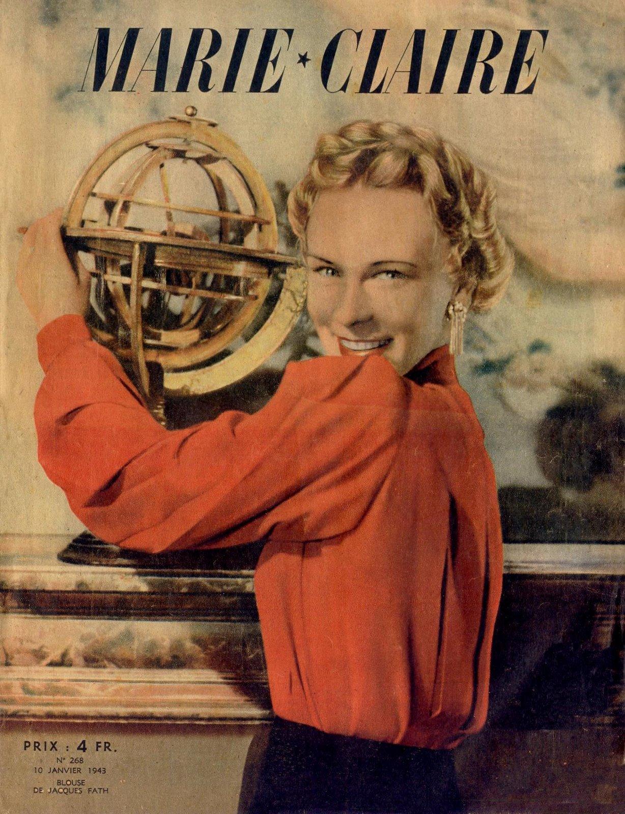 couverture vintage magasine marie claire 07 27 couvertures du magazine Marie Claire