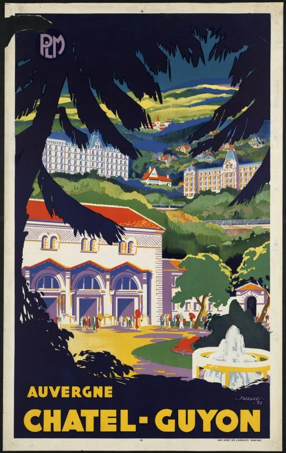 Visitez la france avec des anciennes affiches touristiques - Office de tourisme chatel guyon ...