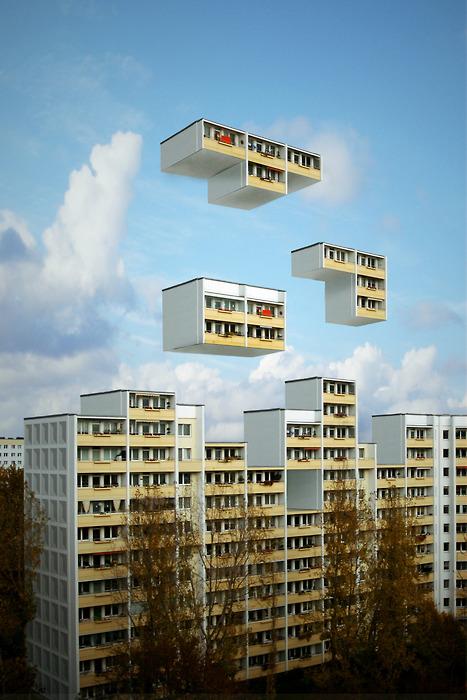 Tetris avec un immeuble