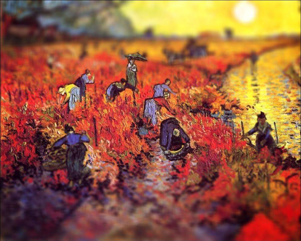 tilt shift van gogh flou paysage peinture perspective 05 Des peintures de Van Gogh avec un effet Tilt Shift