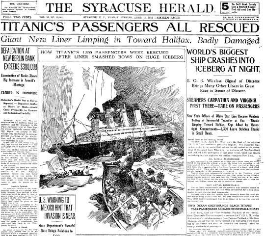 titanic journaux presse newspaper couverture fail 02 Le 15 Avril 1912 la presse annonce la catastrophe du Titanic  histoire featured