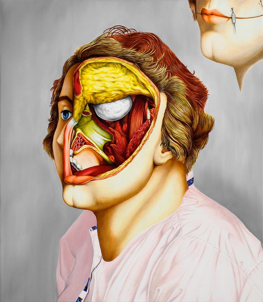 valerio carrubba peinture anatomique morbide 01 Les étranges peintures anatomique de Valério Carrubba  design art