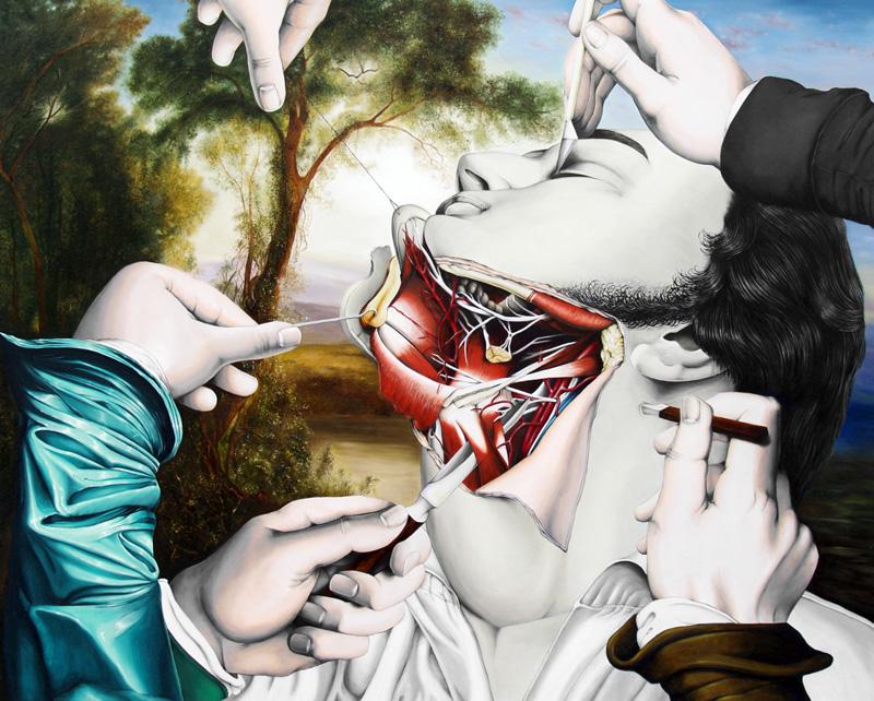 valerio carrubba peinture anatomique morbide 02 Les étranges peintures anatomique de Valério Carrubba  design art