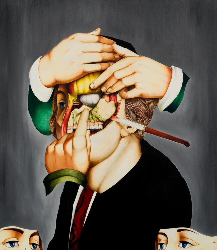 valerio carrubba peinture anatomique morbide 03 Les étranges peintures anatomique de Valério Carrubba  design art