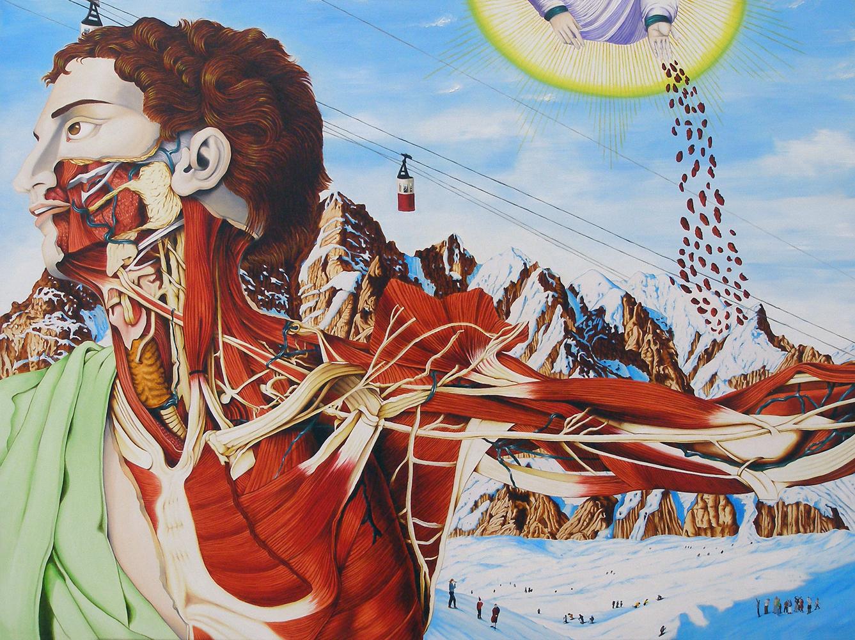 valerio carrubba peinture anatomique morbide 07 Les étranges peintures anatomique de Valério Carrubba  design art