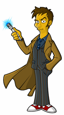 doctor who simpsons 01 Les personnages de Doctor Who Simpsonisés