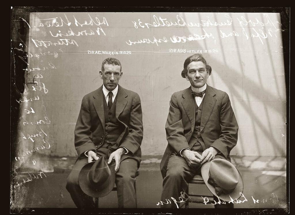 photo police sydney australie mugshot 1920 13 Portraits de criminels australiens dans les années 1920