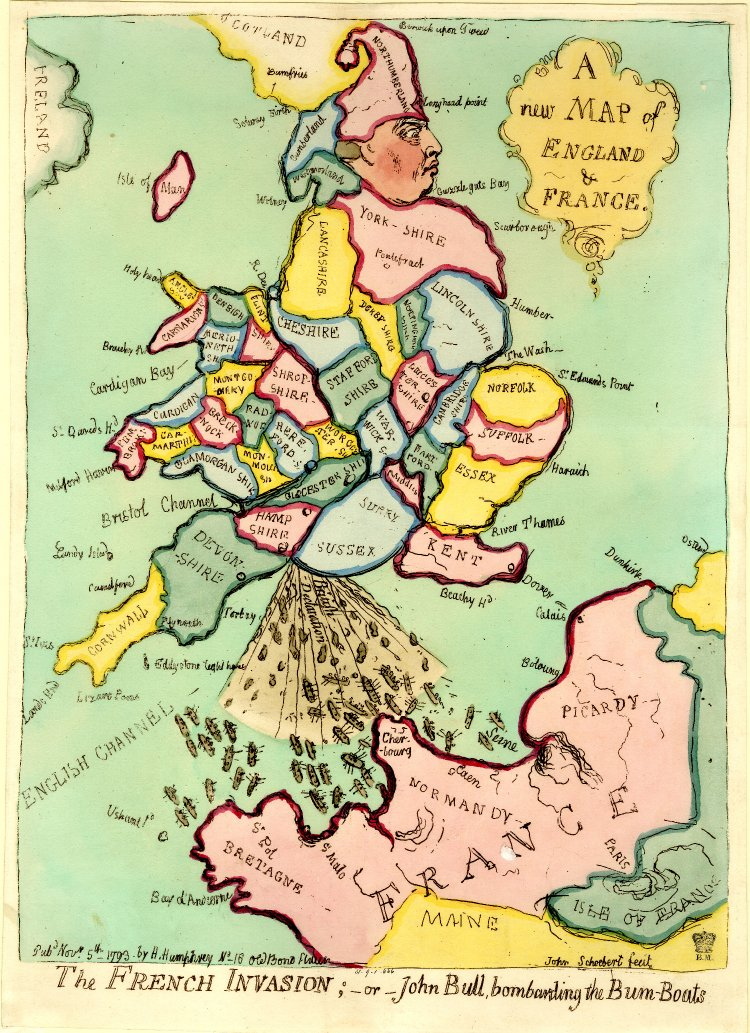 carte satire map caricature 02 Cartes satiriques à travers l'histoire