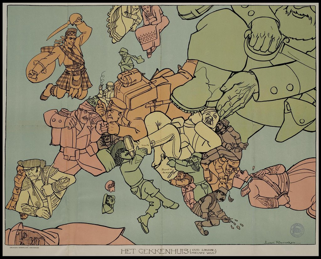 carte satire map caricature 21 Cartes satiriques à travers l'histoire