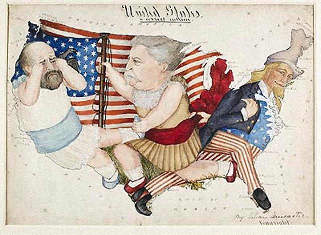 carte satire map caricature 29 Cartes satiriques à travers l'histoire